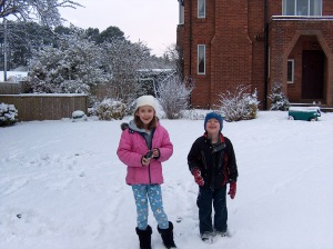 Snow in Ripon, England. Winter of 2009.