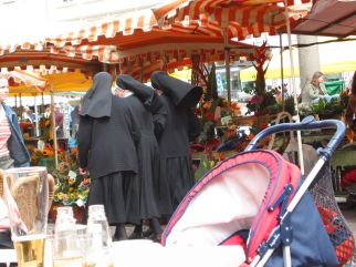 Nuns in town square, flickr.com