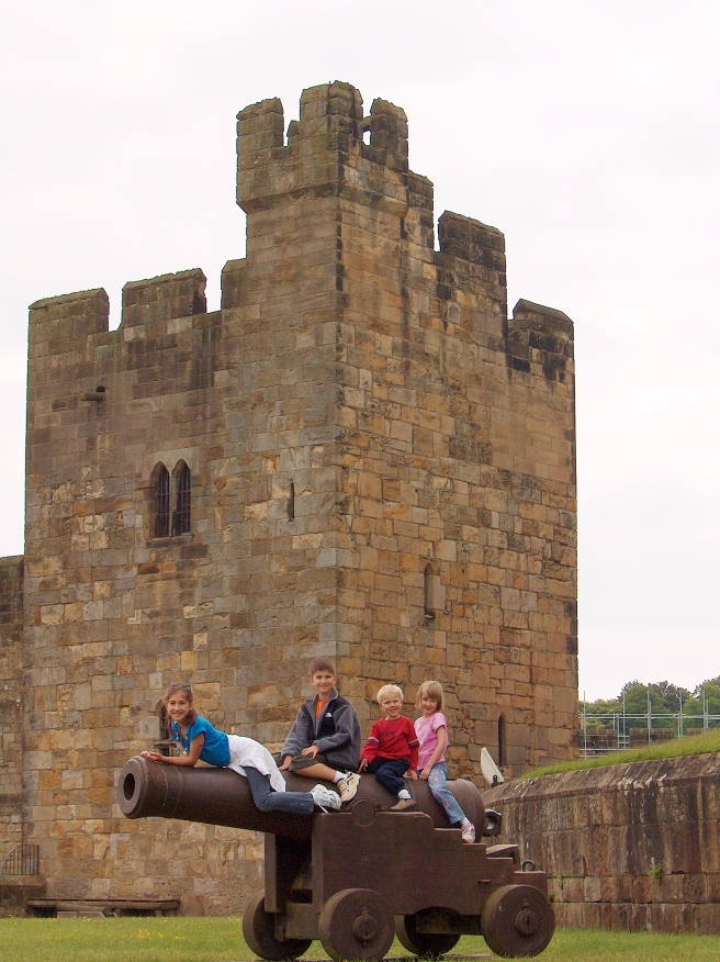 We capture the castle, at Alnwick Castle, England, 2007 or 2008