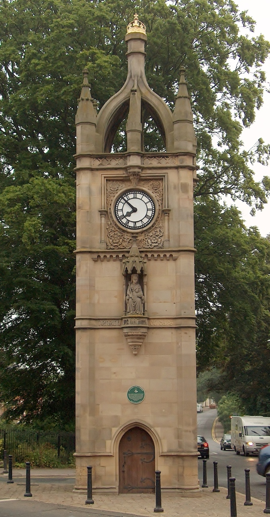 Victoria Clock Tower, Ripon, England--out the window of our old house