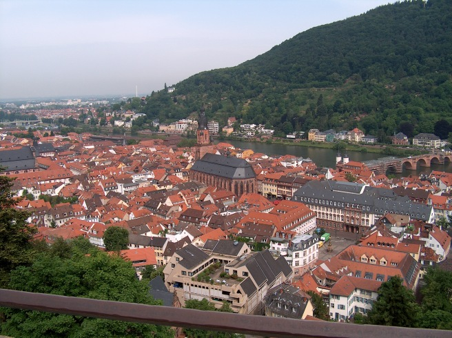 Rooftops of Heidelberg, Germany, 2008