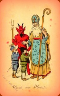 Victorian St Nick and Krampus