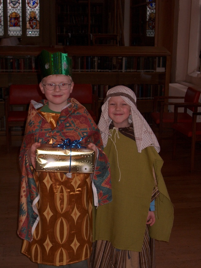 Ein Konig und ein Hirte-- a wise king and a shepherd at Ripon Cathedral some years ago (2008?)