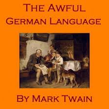 m twain awful german lang