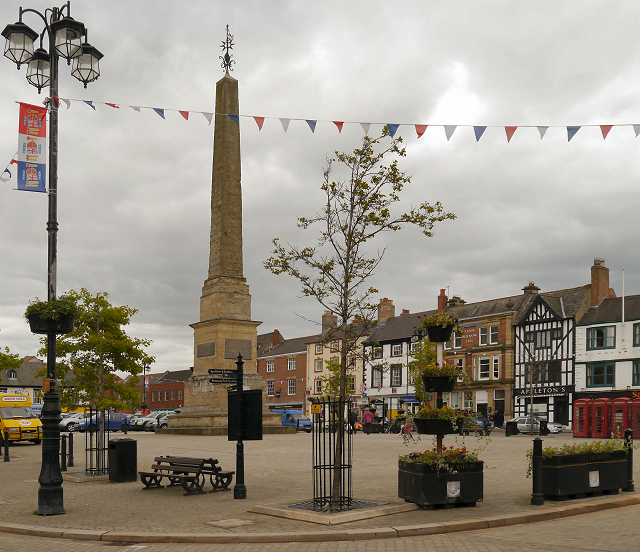 Ripon Market Square, Copyright David Dixon and licensed for reuse under Creative Commons Licence.