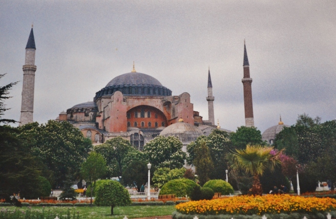 The Hagia Sophia, in Istanbul