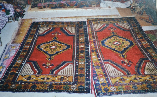 Carpet shopping in Cappadocia.