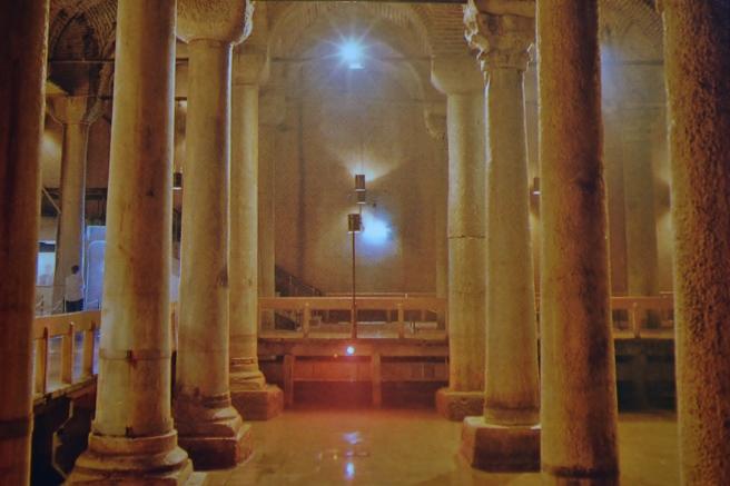 Underground cistern in Istanbul.