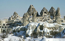 Goreme in winter, from Wikipedia.org