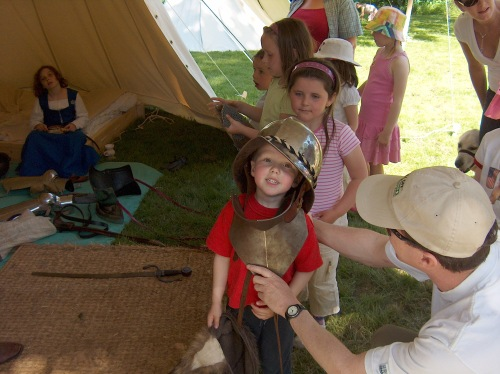 The past came alive at a history fair at Fountains Abbey, Yorkshire