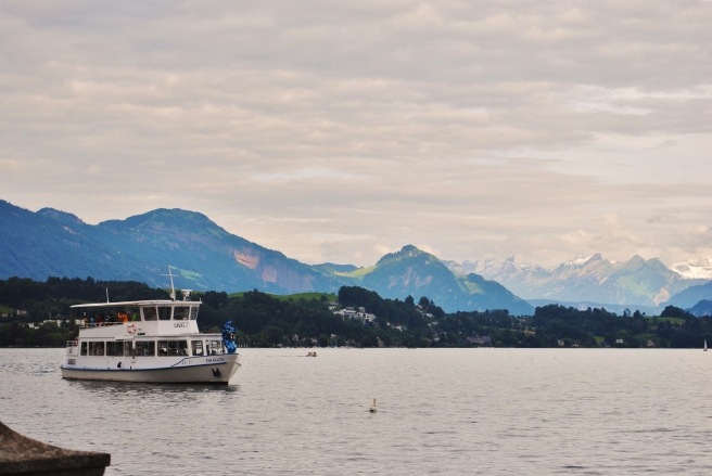 Lovely Lake Lucerne and the Alps