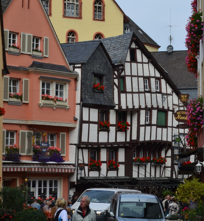 Bernkastel-Kues, on the Mosel River.  Crooked floors in a half-timber house.