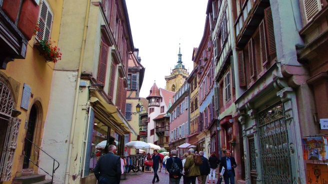 Colmar, France. Crooked streets where everything leans in--and it only adds to the beauty.