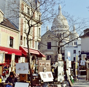 Montmartre has an artistic vibe.