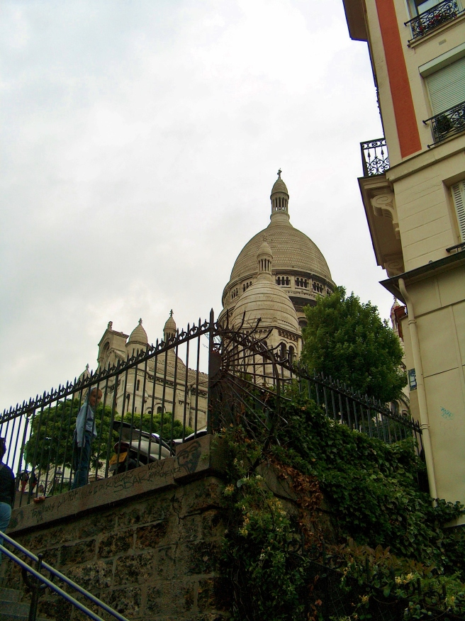 Climbing the stairs of Montmartre, 2008