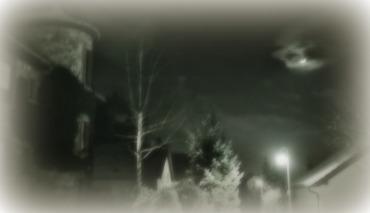 ghosty snow house moon
