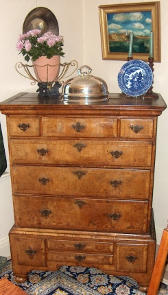 The old Queen Anne walnut chest -- did we buy more than we bargained for?