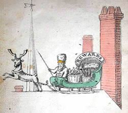 Sante Claus The Children's Friend, 1821 William B. Gilley, publisher