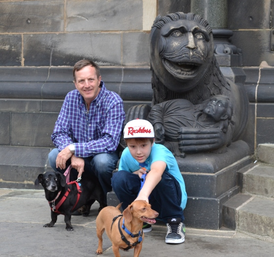 With pups in Bremen, Germany