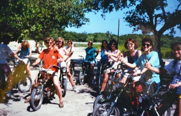 Easy riders, in the Yucatan Penninsula 1988.