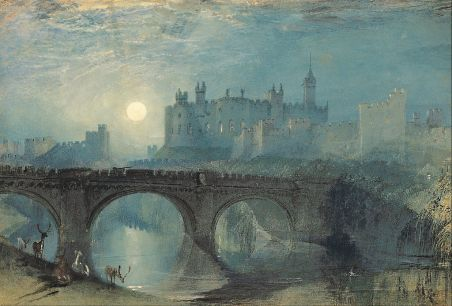 Alnwick Castle painting, by J.M.W. Turner