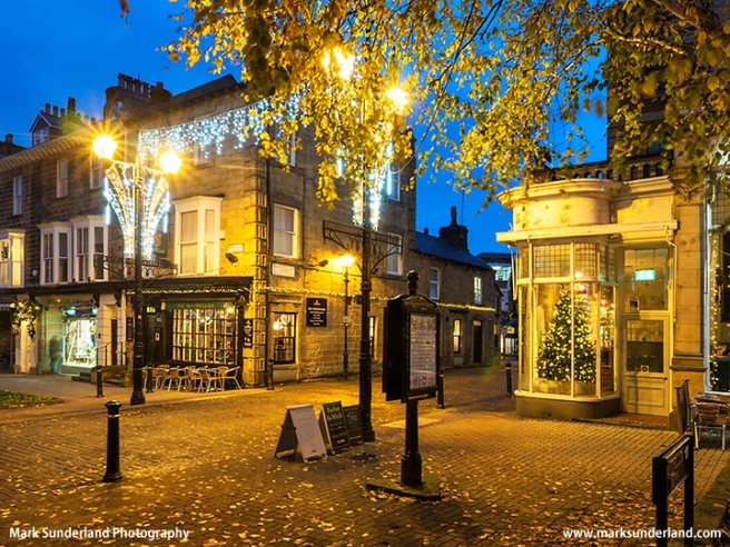 Montpellier Quarter in Harrogate at Dusk